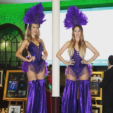 Purple showgirl outfits
